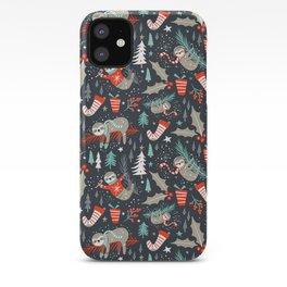 Slothy Holidays iPhone Case