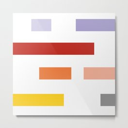 Colored lines #society6 #decor #buyart #artprint Metal Print