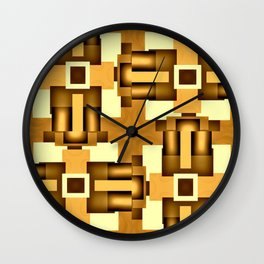 Gold Beige Pipe System,Streampunk Wall Clock