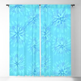 Turquoise Petal Rose Blackout Curtain