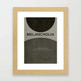 Melancholia - MINIMALIST POSTER Framed Art Print