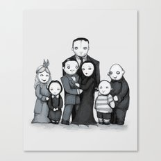 Spooky Plushie Family Canvas Print