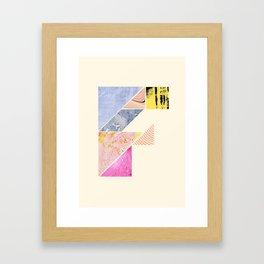 Collaged Tangram Alphabet - F Framed Art Print