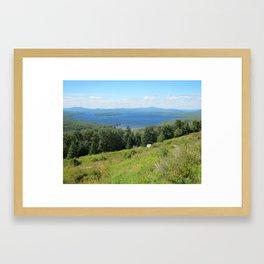 Maine Hillsides Framed Art Print