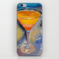 martini iPhone & iPod Skins featuring Mango Martini by Michael Creese