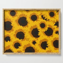 Sunflower Love Serving Tray