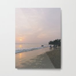 Sunset Surf on Kabalana Beach, Ahangama, Sri Lanka 2 Metal Print