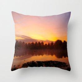 Sunrise - Meditation Pond Throw Pillow
