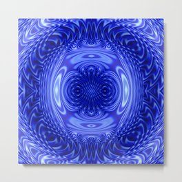 Flow Blue Metal Print