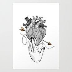 Heart & Hand Art Print