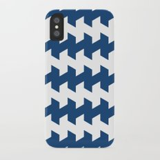 jaggered and staggered in monaco blue iPhone X Slim Case