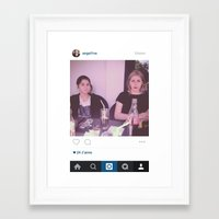 instagram Framed Art Prints featuring Instagram by ANGEL1NE