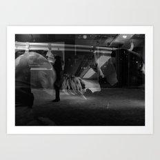 Hanging in light Art Print