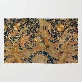 Vintage Golden Deer and Royal Crest Design (1501) Rug