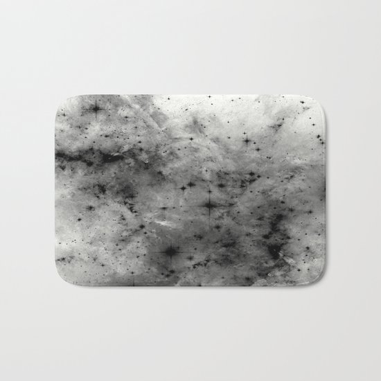 Space Without Colour - Black And White Painting Bath Mat