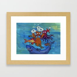 Out of reality. Framed Art Print