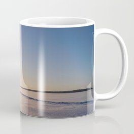 Clear Day on Snowy Lake Ice Coffee Mug