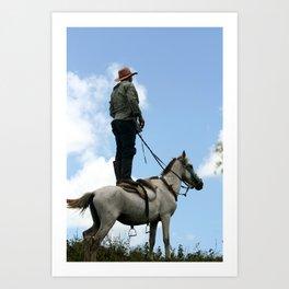 Man and Animal Art Print