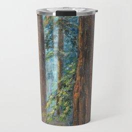 Big Basin Redwood Grove, California landscape painting by Leonora Naylor Penniman Travel Mug