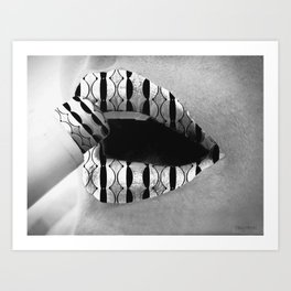 Lipstick Perspective Black And White Art Print