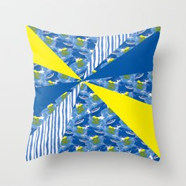 Sailing on Stormy Seas Throw Pillow