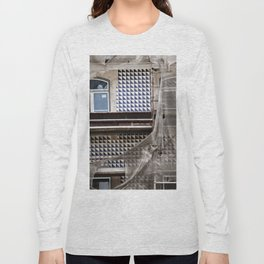 Antique Building's Facade with Scaffolding Long Sleeve T-shirt