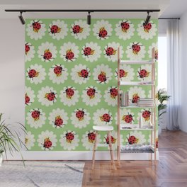 Ladybugs pattern Wall Mural