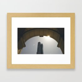 DownTown rainbow Framed Art Print