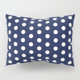 Navy Blue Polka Dot Pillow Sham