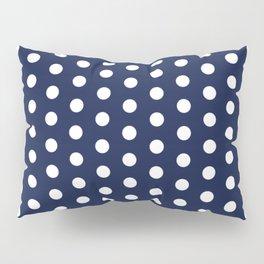 Navy Blue Polka Dots Minimal Pillow Sham