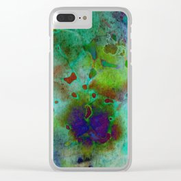 cool colors Clear iPhone Case