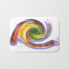 The whirl of life, W1.9A Bath Mat