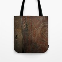 leather Tote Bags featuring Aged Leather by Dorothy Pinder