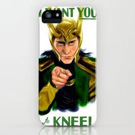 Loki wants you iPhone Case