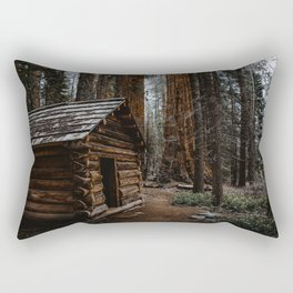 Log Cabin in the Giant Forest Rectangular Pillow