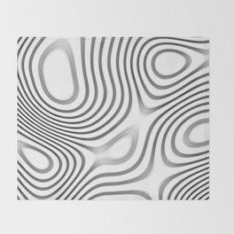 Organic Abstract 01 WHITE Throw Blanket