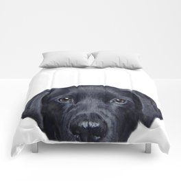 Labrador with white background Dog illustration original painting print Comforters
