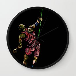 Javelin Throw Athlete Original Digital Drawing Wall Clock