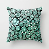 huebucket Throw Pillows featuring Blooming Trees by Pom Graphic Design