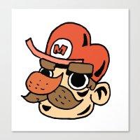super mario Canvas Prints featuring Super Mario by Déoz Woorld