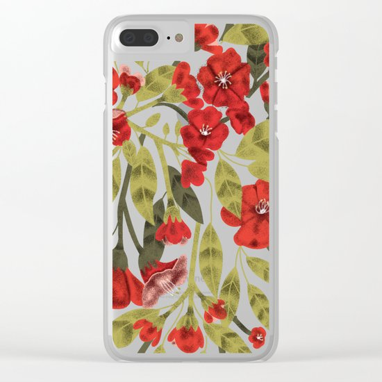 Red Garden Clear iPhone Case