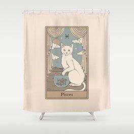 Pisces Cat Shower Curtain