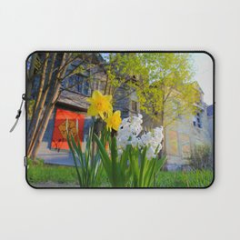 Daffodils and Dilapidation Laptop Sleeve