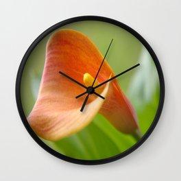 Calla orange Wall Clock