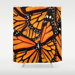 MONARCH BUTTERFLIES WING COLLAGE PATTERN  1 Shower Curtain