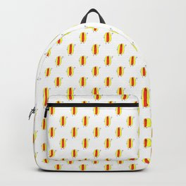 Cute Cartoon Hot Dog Pattern Backpack
