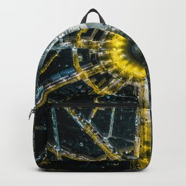 Night and day above Paris Backpack