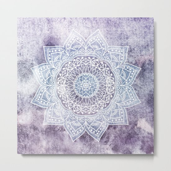 DEEP PURPLE MANDALA Metal Print