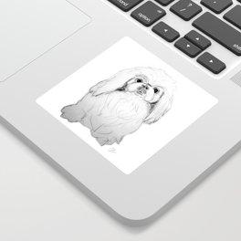 Cartoon Pekingese Dog Sticker