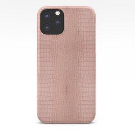 Pink Alligator Print iPhone Case